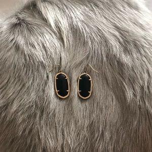 Black/gold Kendra Scott Elle drop earrings!